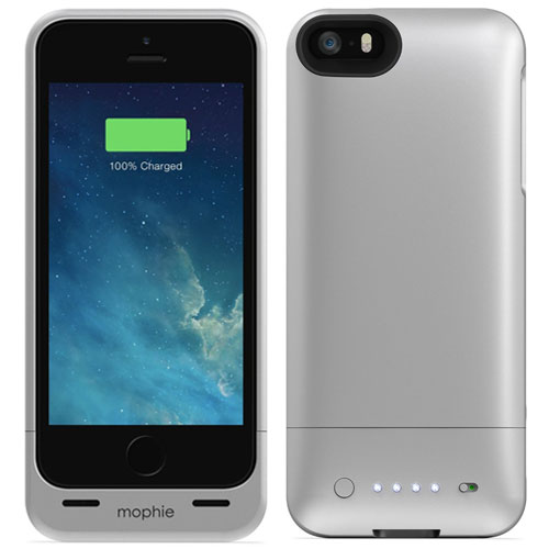 6fd6b0dad21 MOPHIE JUICE PACK HELIUM IPHONE 5 5S SE EXTENDED BATTERY CHARGING CASE IN  SILVER