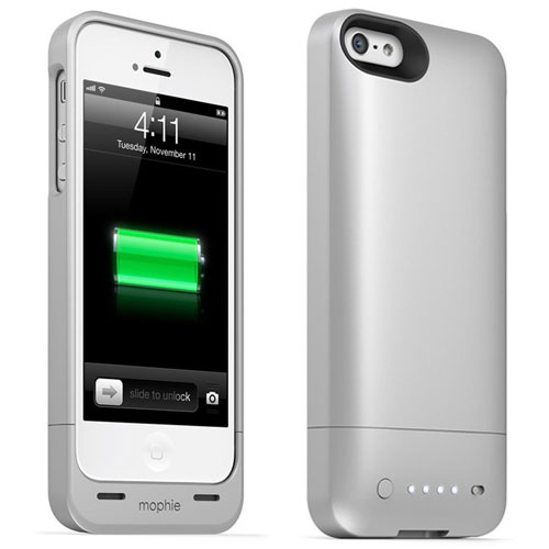 a04e8decd MOPHIE JUICE PACK HELIUM IPHONE 5 5S SE EXTENDED BATTERY CHARGING CASE IN  SILVER