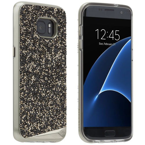 separation shoes d32c4 0839d Details about CASE-MATE BRILLIANCE SAMSUNG GALAXY S7 EDGE CASE COVER  CHAMPAGNE CRYSTAL GLITTER