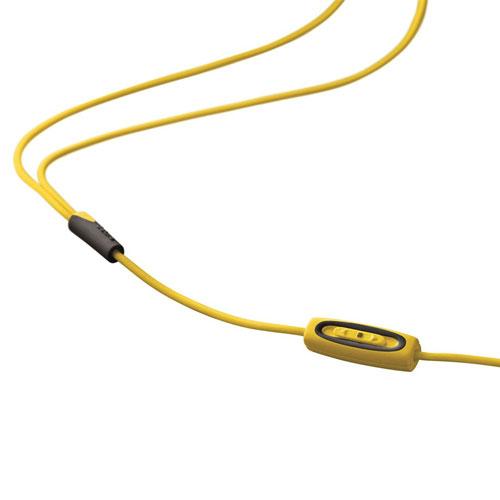 In-ear earphones with mic - yellow earphones with microphone
