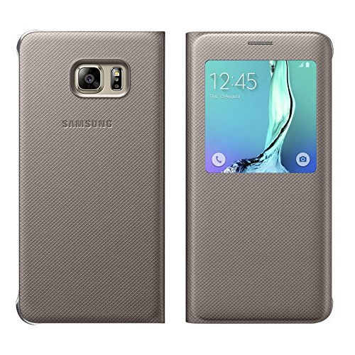 huge discount aeeae e2d9e Details about NEW SAMSUNG GALAXY S-VIEW PROTECTIVE CASE FLIP COVER FOR S6  EDGE PLUS GOLD