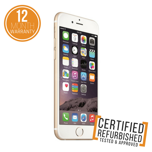 certified refurbished iphone apple iphone 6 16gb gold unlocked sim free smartphone 10353