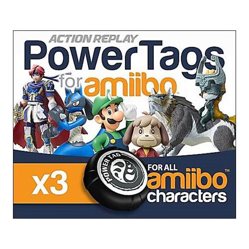 Details about ACTION REPLAY POWERTAGS FOR AMIIBO FOR NINTENDO WIIU 3DS  SWITCH - 3 PACK