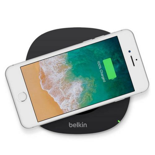 belkin qi certified wireless charging pad for smartphones black f8m747bt ebay. Black Bedroom Furniture Sets. Home Design Ideas