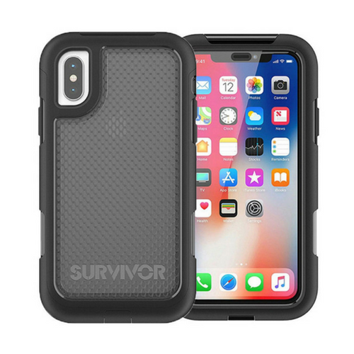 51e190b2bfb GRIFFIN SURVIVOR EXTREME HARD CASE FOR APPLE IPHONE X XS - BLACK TINT -  TA43979