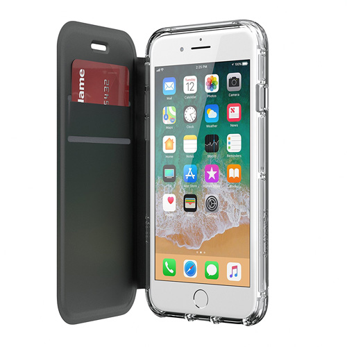 c7a079eea30 GRIFFIN SURVIVOR CLEAR WALLET CASE COVER FOR IPHONE 8 PLUS - BLACK/CLEAR