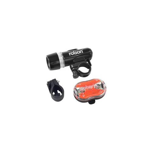 60739 Rolson Tools Bicycle Light Set Led 2 Piece