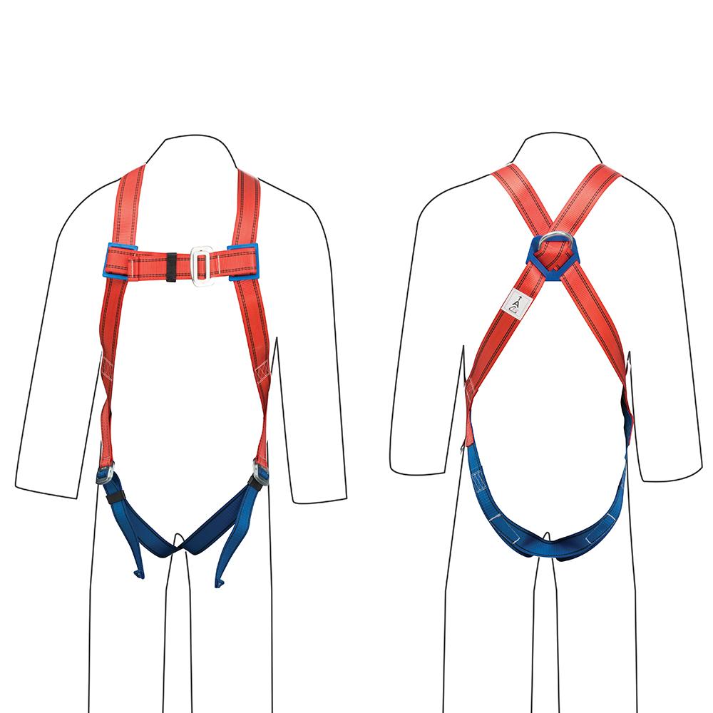 1 Point Safety >> Gu5032 Silverline Fall Arrest Harness 1 Point Safety Workwear Fall