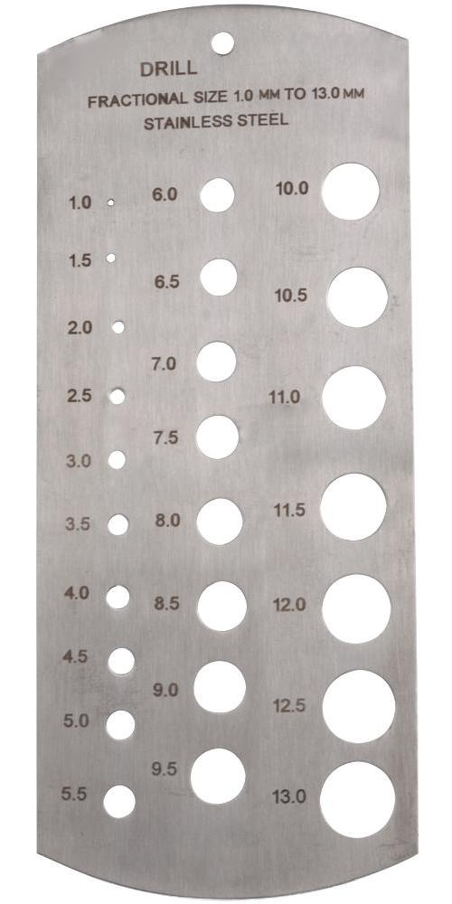 Duratool D03115 Stainless Steel 25 Hole Metric Drill