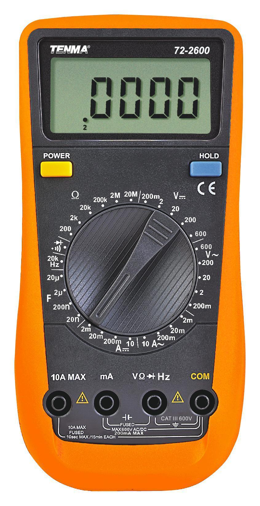 CLAMP DMM 3.5 DIGIT AUTO 72-2985 100A TENMA