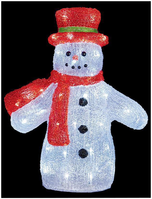 40cm acrylic led snowman xmas lights indoor outdoor christmas decoration