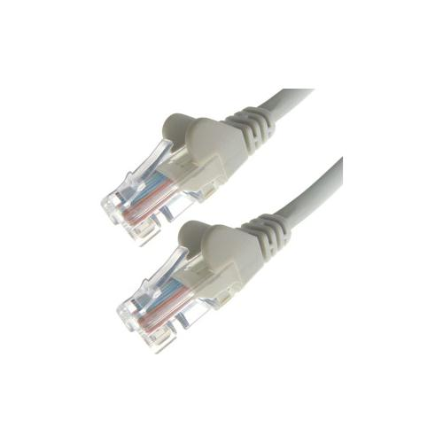 Cables UK Cat6 UTP 24 AWG Moulded Snagless Patch Lead Grey 0.5m