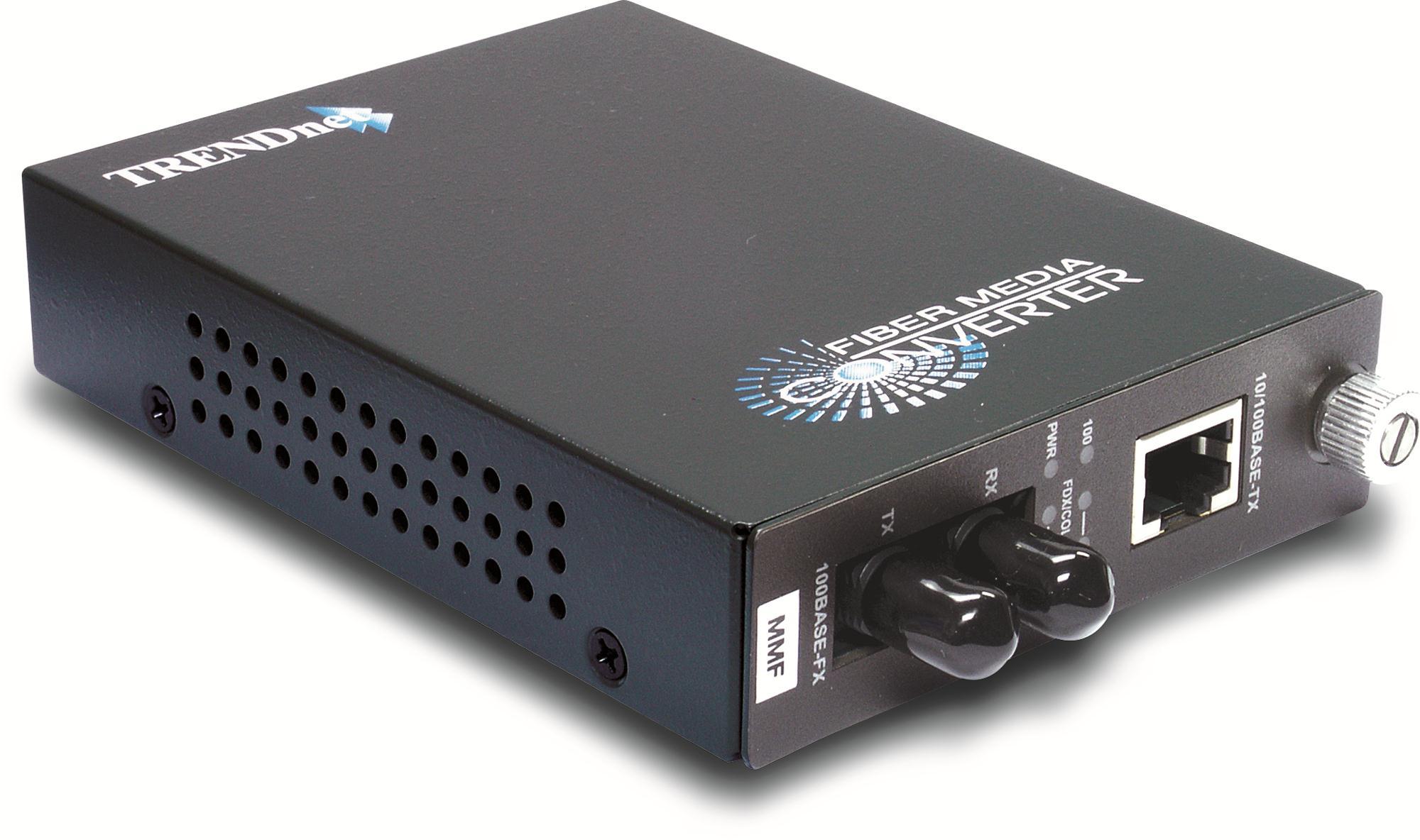 Trendnet TFC-110MST 10//100Mbps-TX to 100Base-FX Multimode Fiber Converter