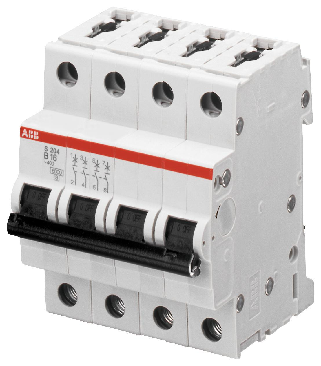 Abb S204 C63 Circuit Breaker Thermal Mag 4 Pole 63a