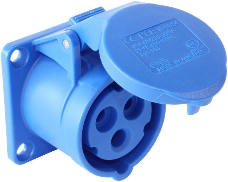 10x 16Amp PCE Plug Ceeform Male 16 A IP44 230v 240v Blue