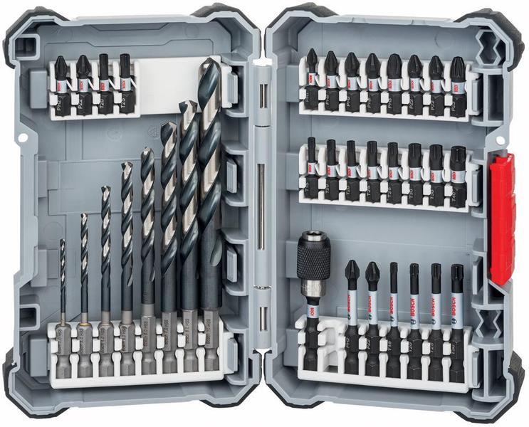 bosch 2608577148 impact control hss drill bit screwdriver bit set 35 pce ebay. Black Bedroom Furniture Sets. Home Design Ideas