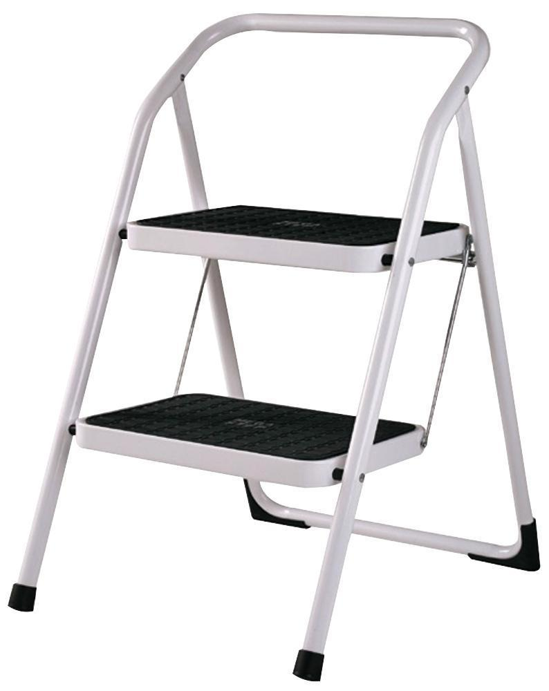 Groovy Details About 2 Step Steel Step Stool White Abru 23123 Bralicious Painted Fabric Chair Ideas Braliciousco