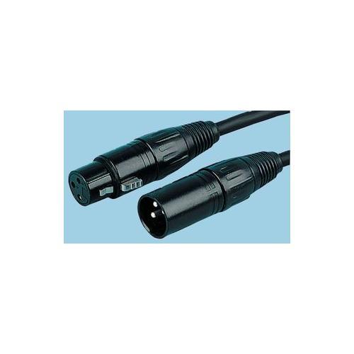 3P XLR Male Microphone Connector Black 50 Pack