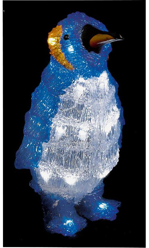 32cm white led acrylic penguin xmas lights indoor outdoor christmas decoration