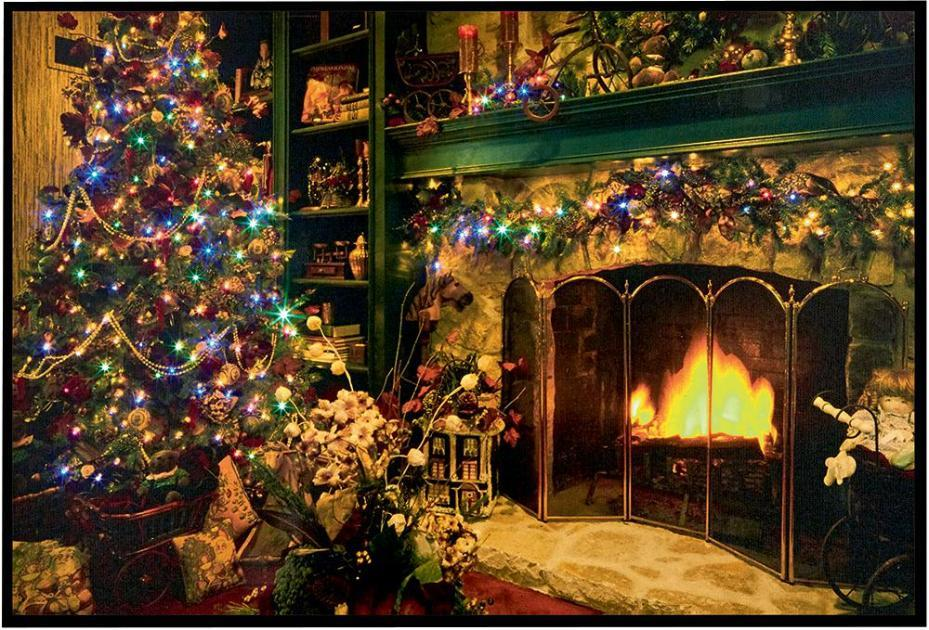 Fireplace Christmas.Details About Xmas Pictures Glowing Fireplace Scene Illuminated Christmas Canvas 0 6x0 4 Metre