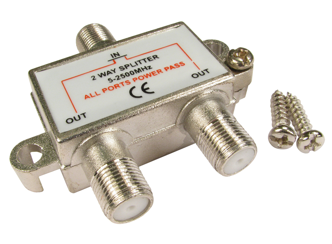 GC1115 2 way F connector splitter male to 2 x female 5055602719619 ...