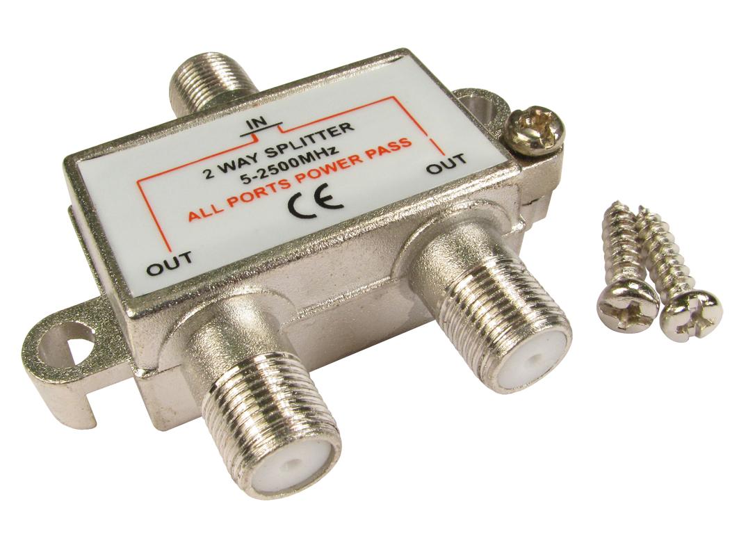 GC1115 2 way F connector splitter male to 2 x female | eBay