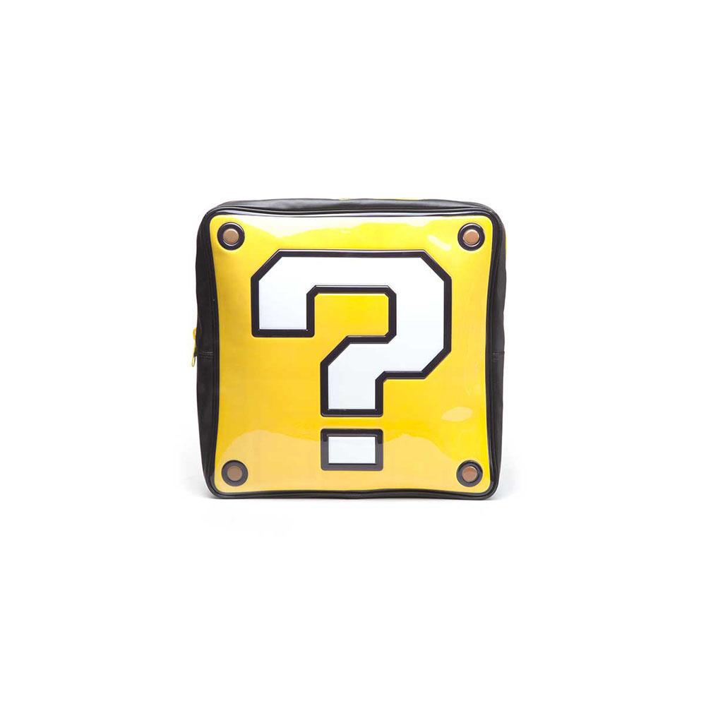 nintendo super mario bros question mark box shaped