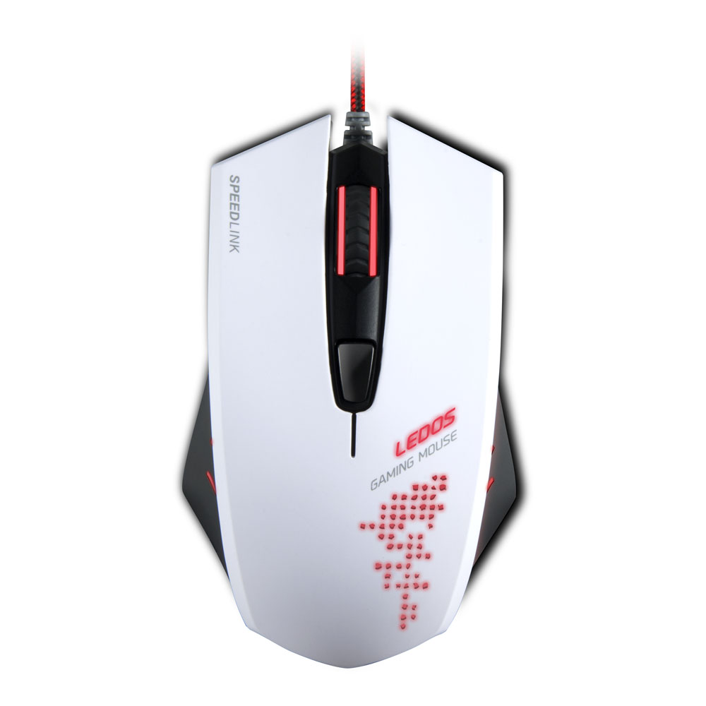 6b45cf14cce ... SPEEDLINK Ledos 3000dpi Optical Sensor Gaming Mouse Red LED  Illumination White ...