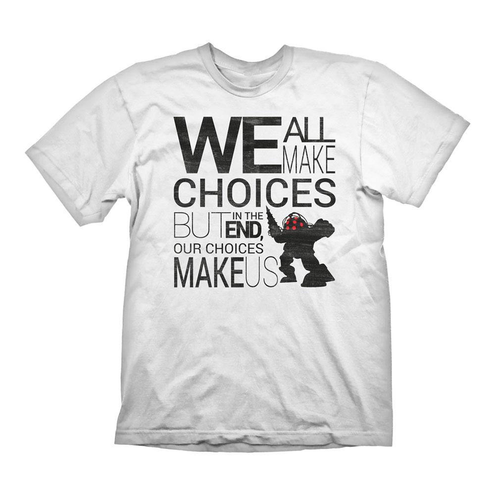 9470bcccaf55 BIOSHOCK Men's Quote Vintage T-Shirt, Extra Large, White (GE1827XL ...
