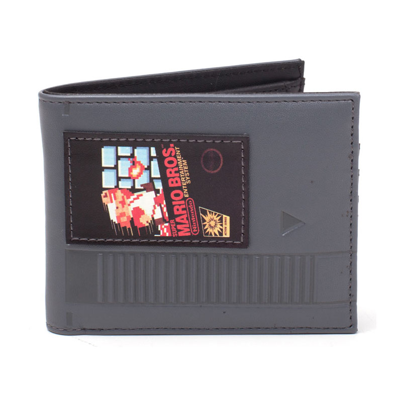 508236de14 NINTENDO Super Mario Bros. Cartridge Bi-fold Wallet, Grey/Black  (MW568575NTN ...