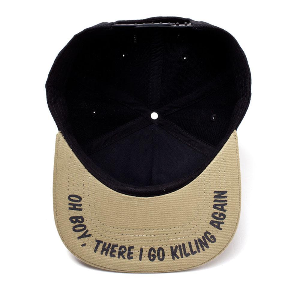 RICK /& MORTY Krombopulos Michael Snapback Baseball Cap Black//Tan SB754570RMT