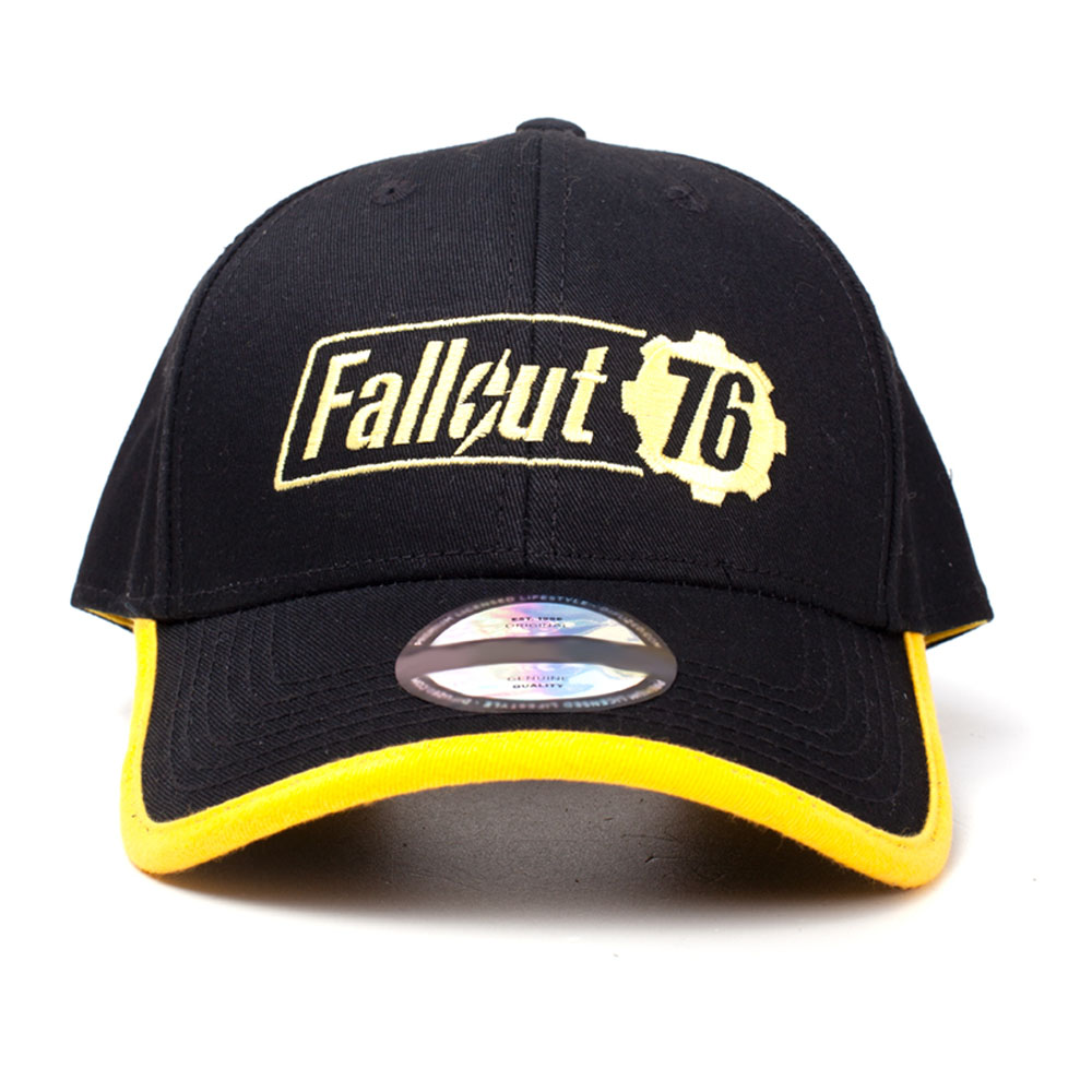 FALLOUT 76 Embroidered Logo Adjustable Cap 53 to 60cm Black Yellow  BA555246FAL ... b80fb8ef45a1
