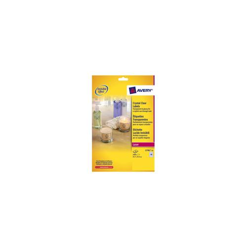 l7781 25 avery crystal clear labels laser durable 45 7x25 4mm 1000