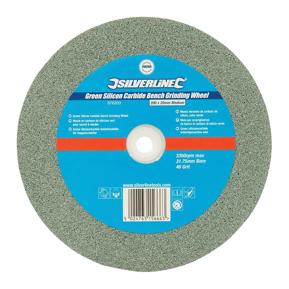 Silverline Green Silicon Carbide Bench Grinding Wheel 200