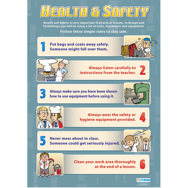 Health And Safety Wall Chart Poster Ebay