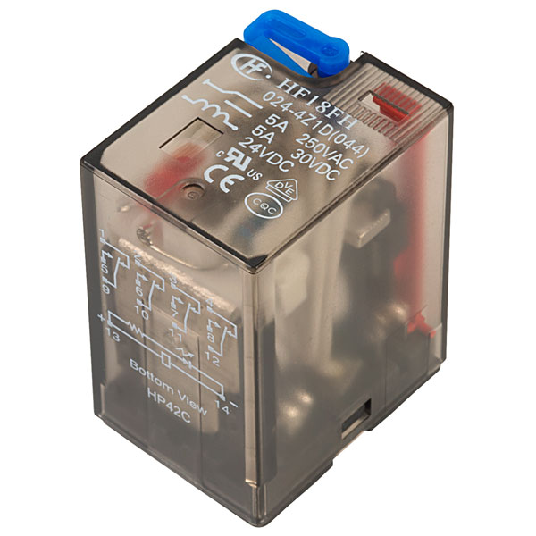 Hongfa HF10FH024D2ZDT 2 Pole 10A 24VDC 8 Pin Plug In Power Relay