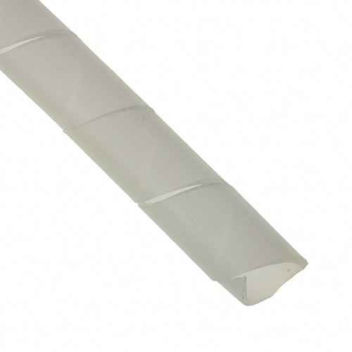 12mm Diameter Spiral Binding White Black Cable Tidy Wrap 0