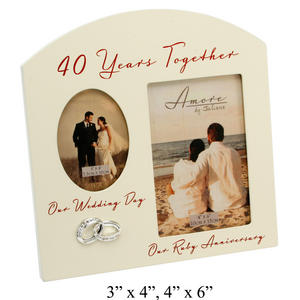 Amore 40th Wedding Anniversary Gift Picture Frame