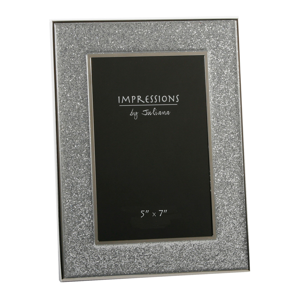 Sparkly Silver Glitter Glass Band Impressions Photo Picture Frames ...