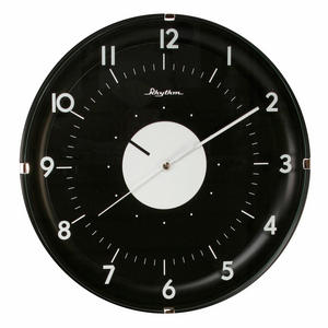 Rhythm Value Added Wall Clock in Black Colour Preview