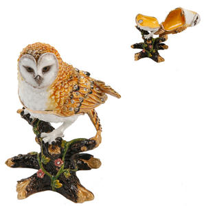 Treasured Trinkets - Owl on Branch Metal Die Cast Trinket Box Preview