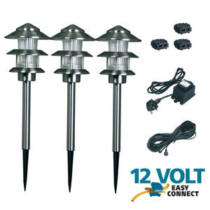 3 x 12v lyon low voltage led garden stainless steel post for 12v garden lights
