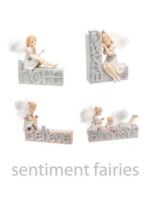 Sentiment Fairy Figures with Children Fairies, choice of designs Preview