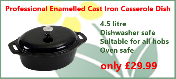 cast iron casserole dishes available