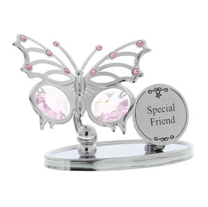 Crystocraft Chrome Plated Butterfly Plaque -Special Friend Preview