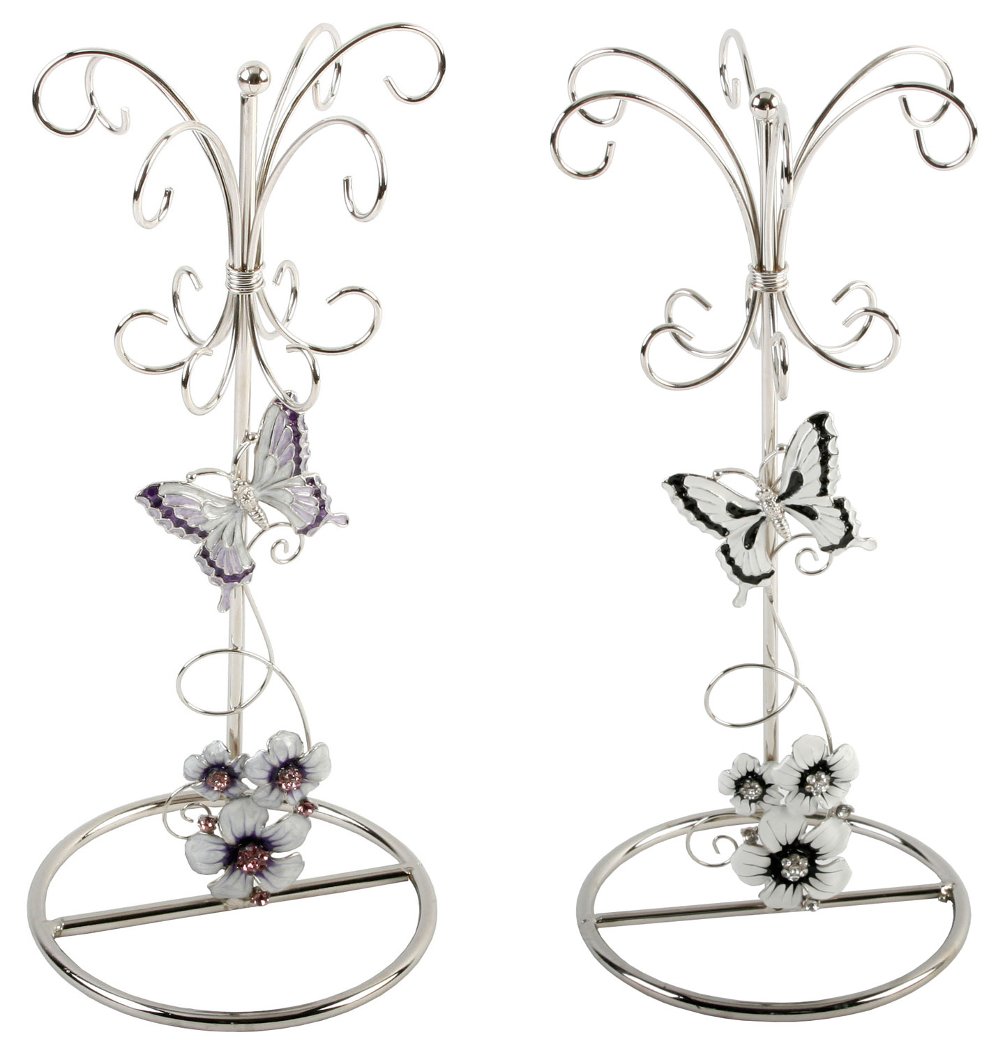Jewellery Exhibition Stand : Butterfly flower crystal jewellery display jewelry stand