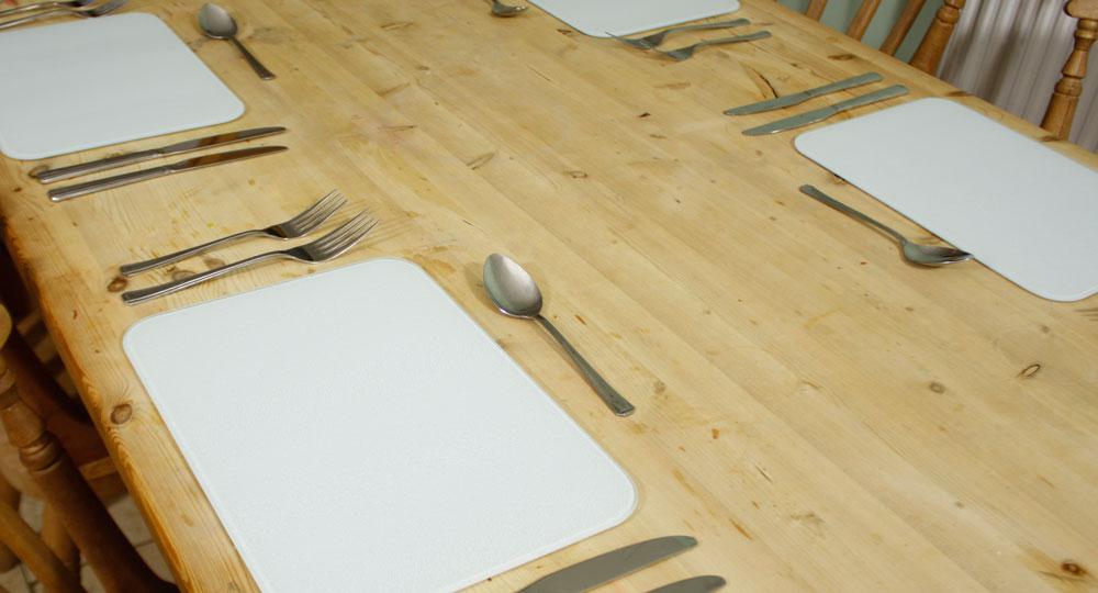 Premium Glass Placemat Place Mats 4 Set Dining Table