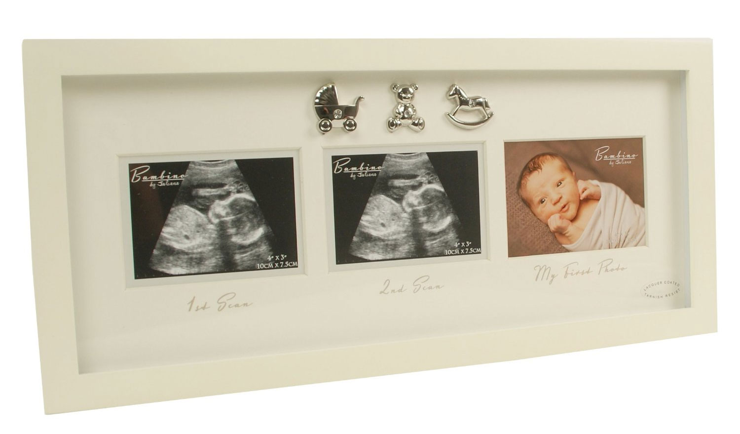 Triple Baby Scan 1st Photo Frame Baby Shower Present Pregnancy New ...
