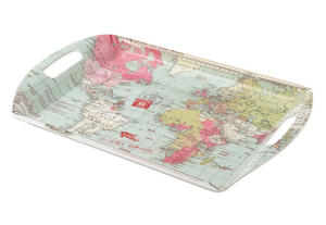 Large Melamine Serving Tray with Handles Voyager Design Preview