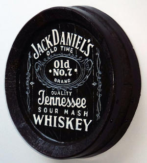 Whiskey Barrel Top Jack Daniels Pub Sign Preview